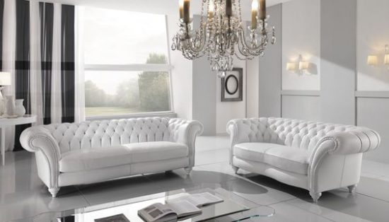 Combine classic look with modern beauty by stunning chesterfield sofas