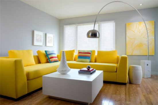 Brighten Up Your Living Room With 2016 Stunning Yellow