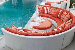 Get the beauty of outdoor furniture inside by 2018 Rattan sofas