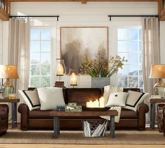 How To Enhance The Look Of A Brown Leather Sofa Brown