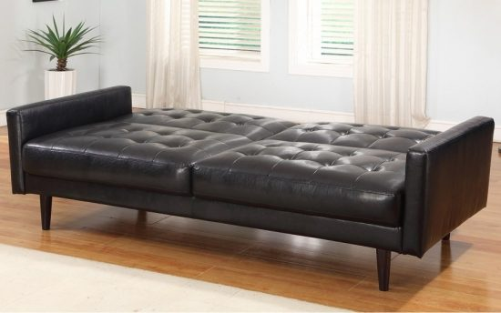 2016 black leather sofa beds; A Charm and Classic Feel with Modern Touch