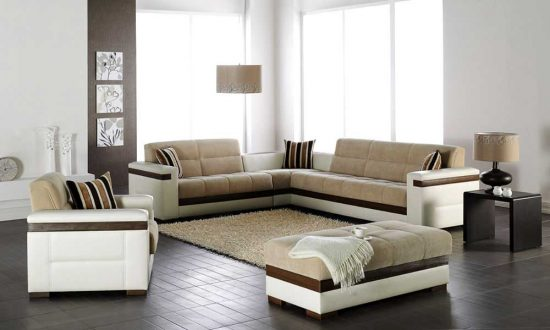 A comfort and style with the brilliant microfiber sectional sofas