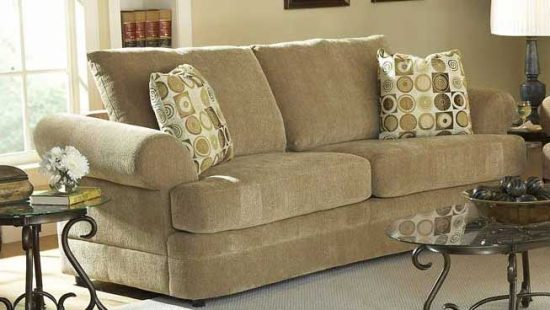... Mid Century Design Ivory Chenille Sofa Couch U0026 Chair Set For Enhancing  Your Living Area With Its Sturdiness, Elegant Straight Lines And Bold  Curves.