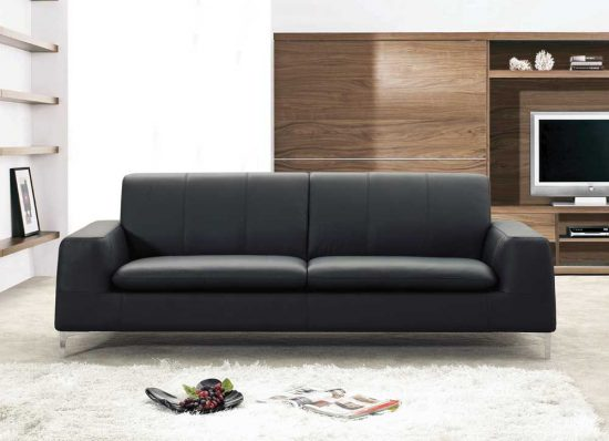 Contemporary leather sofas for stylish, modern and bright homes