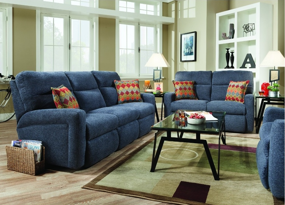 Get the best of 2016 sofas market blue reclining sofas 16 for Best sofas 2016