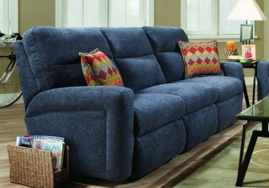Get the best of 2016 sofas market; Blue reclining sofas