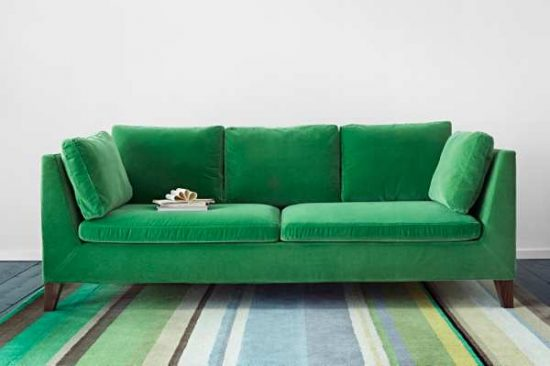 Green Leather Loveseat For A Natural Impact In A Living