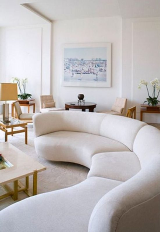 The Incredible Effect of a Curved Leather Sofa upon Your Apartment