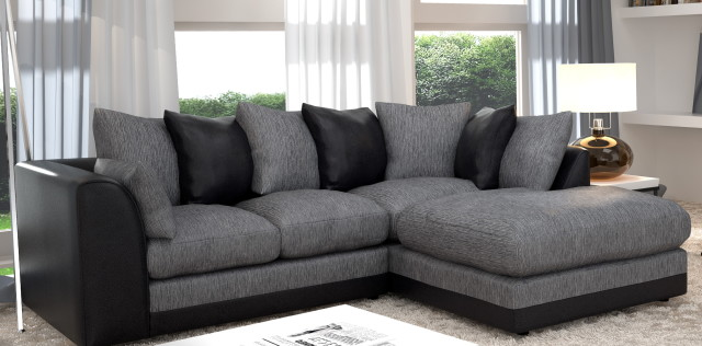 2017 curved leather sofas best elegant choice for every for Black and grey sofa