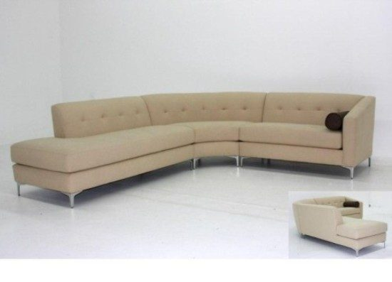 2017 Curved leather sofas; Best elegant choice for every space