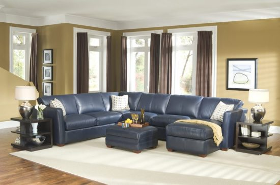 Navy Blue Leather Sofa – Navy Blue Leather Chairs