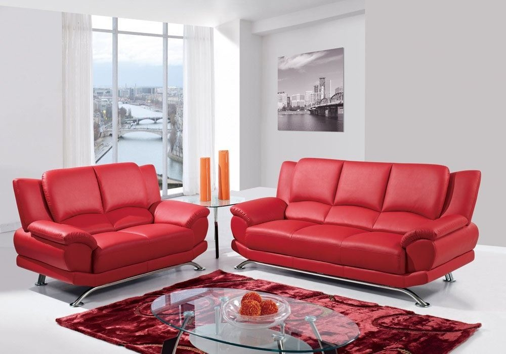 2017 Red Leather Sofas For Charming Warm And Rich Living
