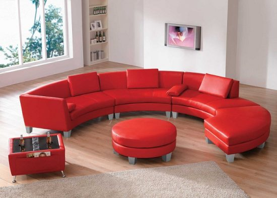 2017 Red Leather Sofas for Charming, Warm and Rich living spaces