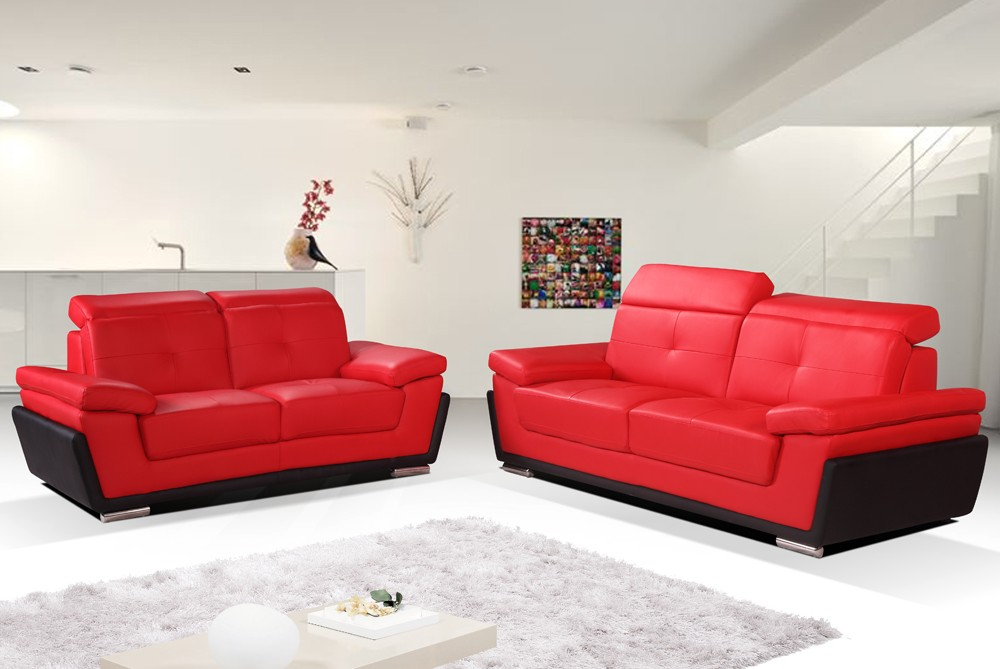 2017 red and black leather sofas a striking and luxurious look 13