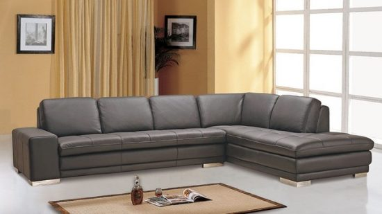 2018 Hottest And Trendiest Gray Leather Sofas For