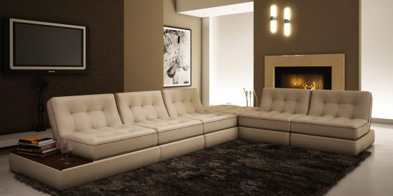 2017 leather sofa; a great statement for today's home