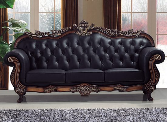 2018 Studded Leather Sofas Add A Timeless Beauty And