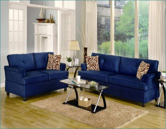2018 Trendy Blue Leather Sofas For Bright Homes Leather