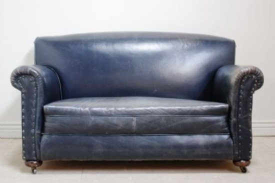 2017 Trendy Blue Leather Sofas For Bright Homes Leather Sofas
