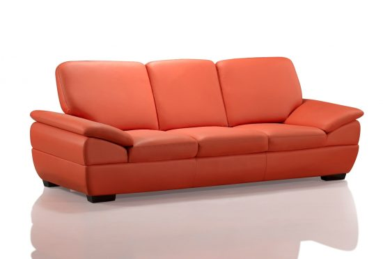 Add style and comfort to your living area with 3 seater leather sofa