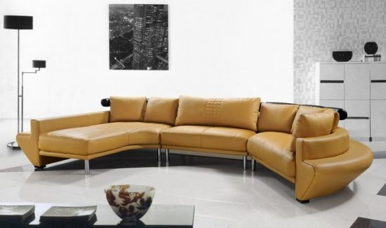 Beautify your living space with an adorable leather couch with benefits
