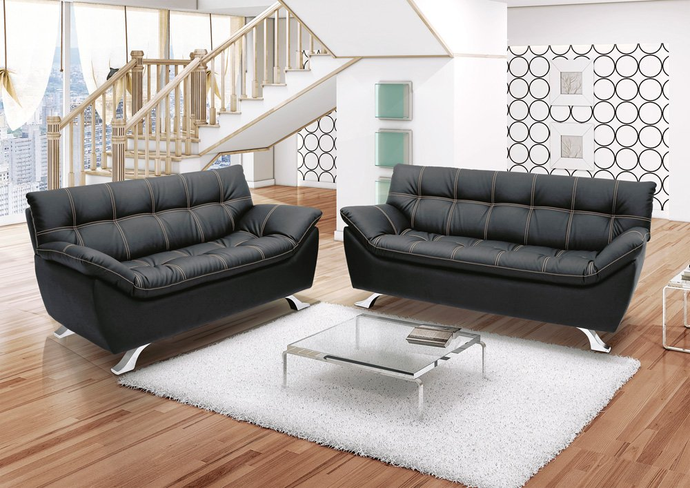 Black leather sofas for small spaces a sign of elegance and beauty 4 black leather sofas for - Leather sectional sofas for small spaces minimalist ...