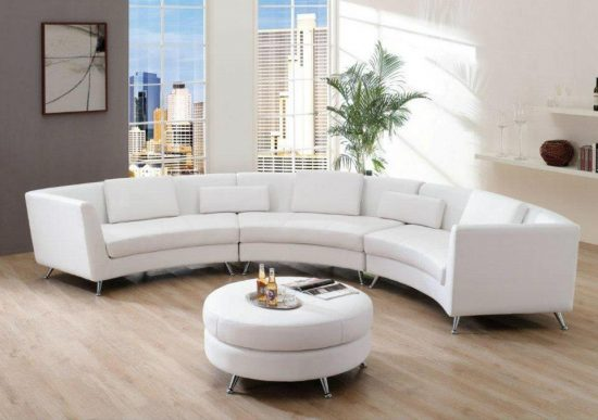Brighten up your living space with 2017 white leather sofa for Living spaces sofas