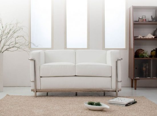 Do you dare to furnish your small space with 2017 white leather sofas leather sofas Small white loveseat