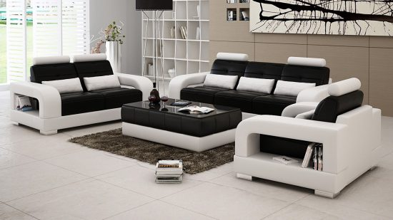 Get a unique look with 2018 black and white leather sofa for Unique sofa designs