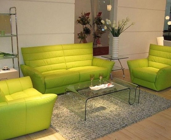 Give Your Home A Trendy Look With 2018 Green Leather Sofa