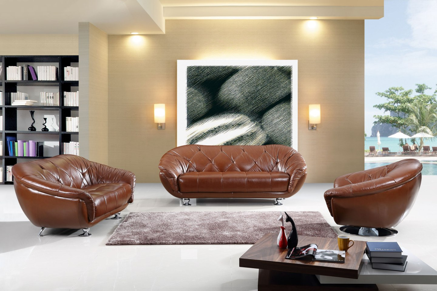 Leather sofa outlets for unique and charming designs at for Unique sofa designs