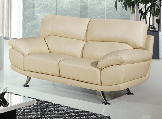 Small cream leather sofas for cozy and elegant small for Small cream sofa