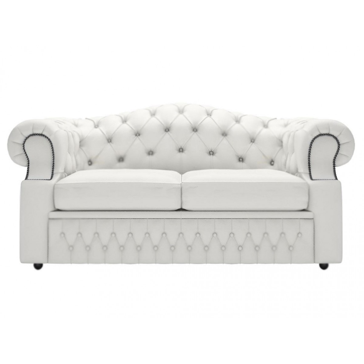 White Leather 2 Seater Sofa Loveseats 2 Seater Sofas Thesofa