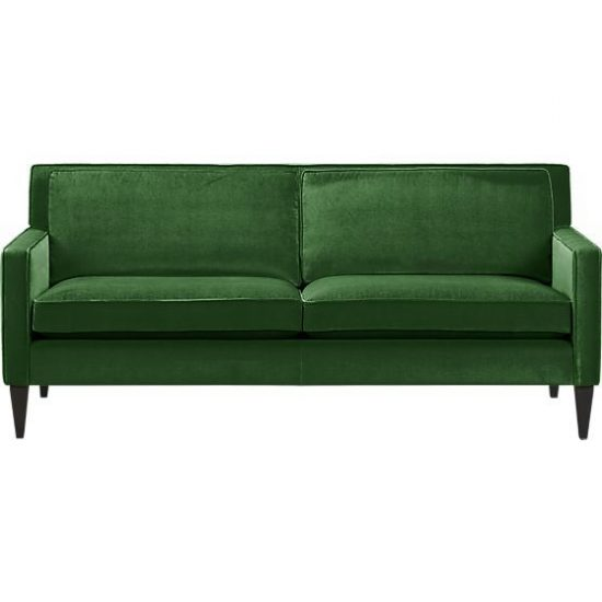 The effect of a green sofa upon your living space best sofas for Living spaces sofas