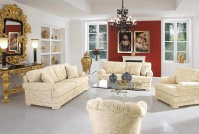A stunning living room look with 2018 sofa and chair set