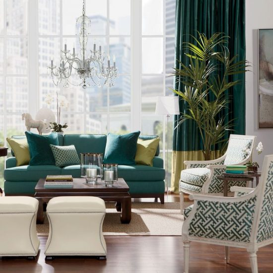 A stunning living room look with 2017 sofa and chair set