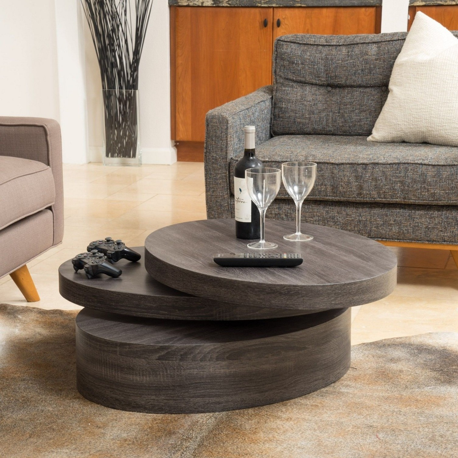 Round Coffee Tables For Smooth Comfortable And Stylish