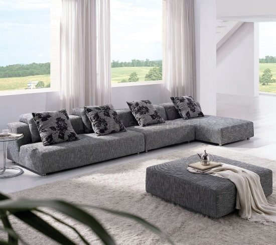 Living Room Comfortable White Sectional Sofa For Elegant: 2018 Contemporary Sectional Sofas