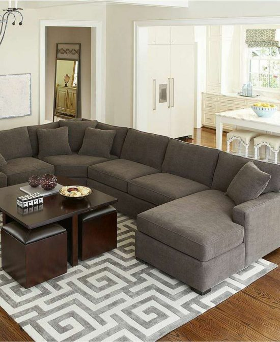 ... 2017 Distinctive Functional U Shaped Sectional Sofas For Beautiful  Large Living Spaces ...