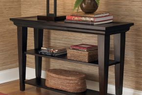 Wood console table - a dream piece for warmth, sophisticated beauty and functionality