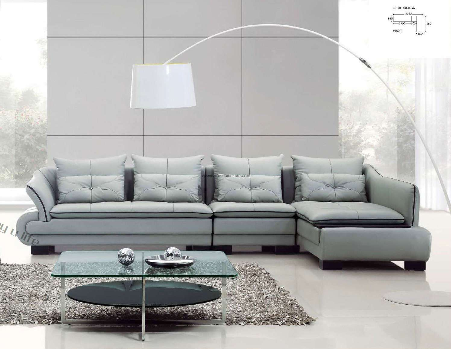 best 2016 design world leather sectional sofa