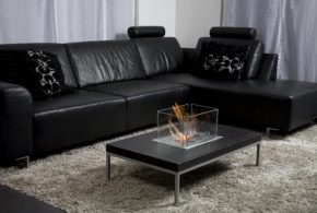 Black Leather Sofa - the best choice for charming living area