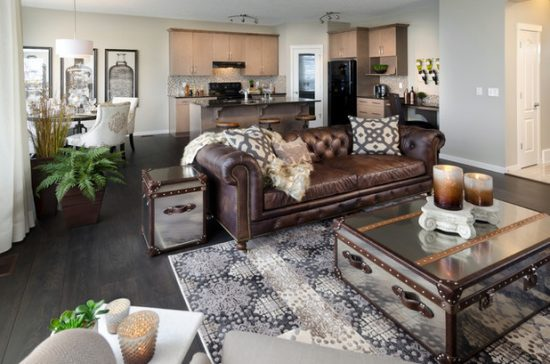 How to enhance the look of a Brown Leather Sofa