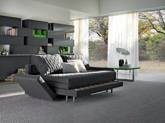 """Live a cozy lifestyle by having smart piece """"couch into a bed"""""""