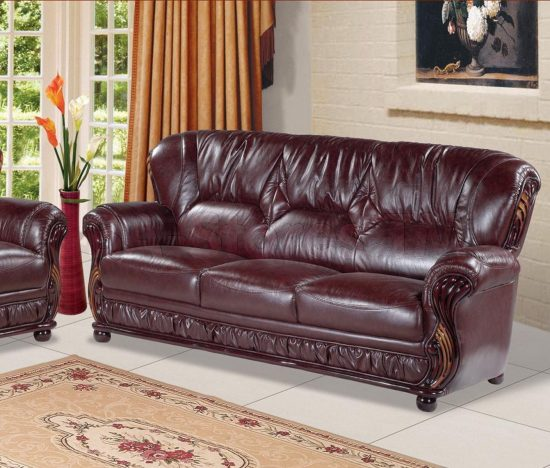 2018 Burgundy Leather Sofas Warm And Inviting Living