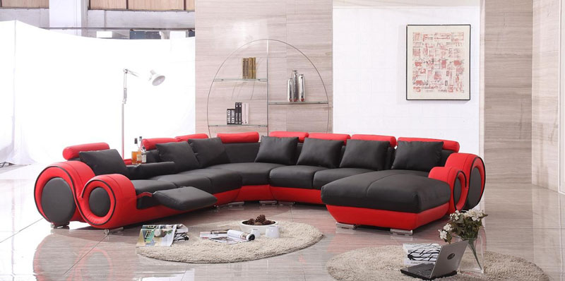 2017 Red And Black Leather Sofas A Striking And Luxurious Look Black Leather Sofa Leather Sofas