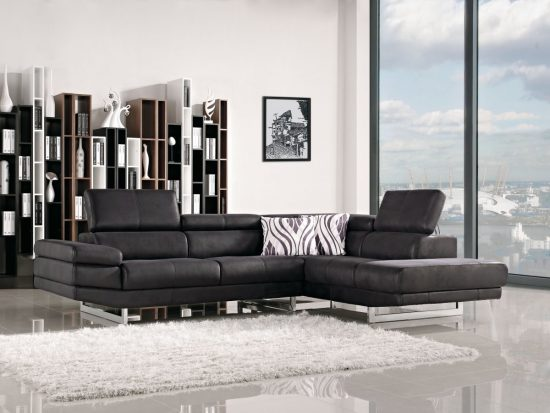 2017 black leather sofas; a great statement in every home