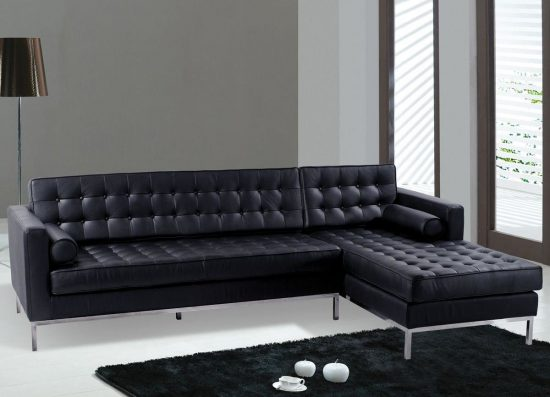 Black leather sofas for small spaces; A sign of elegance and beauty
