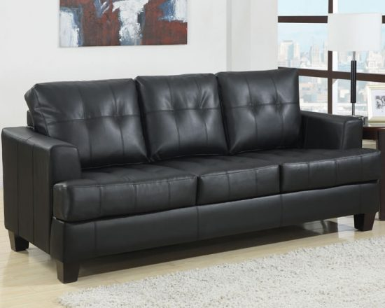 Bonded leather sofas; inexpensive way to get the luxury effect of leather