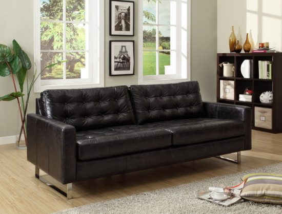 Classic leather sofas for adorable living space with style and charm